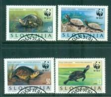 Slovenia 1996 WWF European Pond Tortoise FU Lot81597 - Slovenia