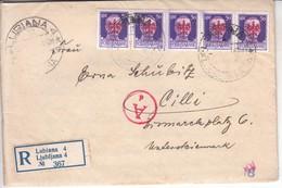 3764  R -  BRIEF    DEUTSCHE BESETZUNG  LAIBACH    1944 - Occup. Tedesca: Lubiana