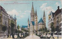 Charlottenburg-Berlin Blick Auf Die Kaiser-Wilhelm-Gedächtnis-Kirche 1918 - Charlottenburg