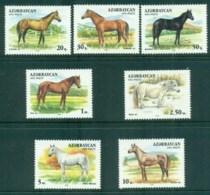 Azerbaijan 1993 Horses MUH - Azerbaïjan