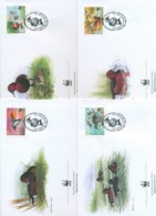 Azerbaijan 2000 WWF Ferruginous Duck 4x FDC Lot73201 - Azerbaïjan