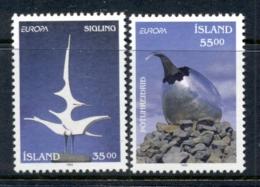Iceland 1993 Europa Sculptures MUH - 1944-... Republic