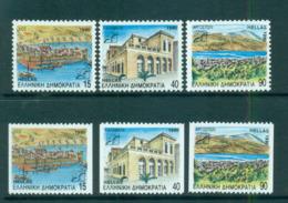 Greece 1990 15,40,90d Pictorial Defins + Ex Booklet MUH Lot58581 - Greece
