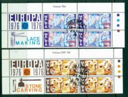 Malta 1976 Europa Block 4 + Labels FU Lot16426 - Malta