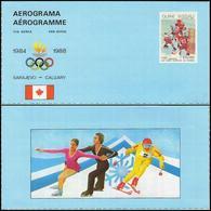 Guinea Bissau - 1983 - Winter Olympic Games 1984/1988 - Aerogram - Hiver 1984: Sarajevo