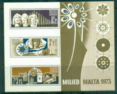 Malta 1973 Welfare, Xmas MS MUH - Malta