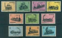 San Marino 1964 Trains MUH Lot52000 - San Marino