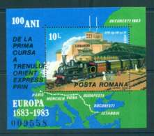 Romania 1983 Orient Express Train MS MUH Lot51980 - 1948-.... Republics