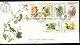 Romania 1985 Audubon Birds,  Franlkin Mint FDC Lot79672 - 1948-.... Republics