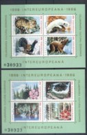 Romania 1986 Wildlife, Intereuropa 2xMS MUH - 1948-.... Republics