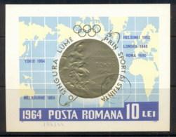 Romania 1964 Summer Olympics Rome MS CTO - 1948-.... Republics