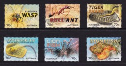 Australia 2014 Things That Sting Set Of 6 Used - 2010-... Elizabeth II