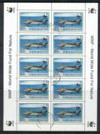 Romania 1994 WWF Sturgeon 650l Sheetlet CTO - 1948-.... Republics