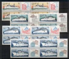 Poland 1986 Ferries Blk4 MUH - Unused Stamps