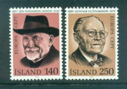 Iceland 1980 Europa, Celebrities MUH Lot65757 - 1944-... Republic
