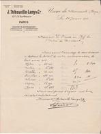 Facture 1911 / Thibouville Lamy / Paris / Usine De Mirecourt 88 Vosges - France