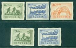 Sweden 1956 Centenary Of Swedish Railroads MH Lot83822 - Sweden