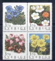 Sweden 1995 Flowers Blk4 MUH - Sweden