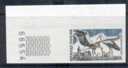 France 1973 Nature Protection Bird, Stork IMPERF MUH - Non Classificati