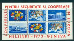 Romania 1973 CESC Helsinki MS MUH Lot57439 - 1948-.... Republics