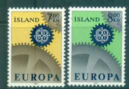 Iceland 1967 Europa, Cogwheels MUH Lot65436 - 1944-... Republic