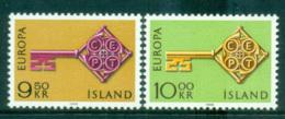 Iceland 1968 Europa, Key With Emblem MUH Lot65453 - 1944-... Republic