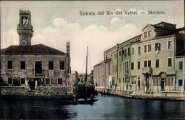 Cp Murano Venezia Venedig Veneto, Entrata Del Rio Dei Vetrai - Otros
