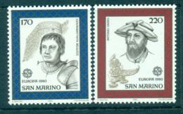 San Marino 1980 Europa, Celebrities MUH Lot65777 - Unused Stamps