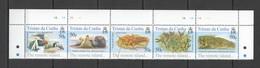 XX315 TRISTAN DA CUNHA THE REMOTE ISLAND FAUNA BIRDS MARINE LIFE #840-44 SET MNH - Timbres