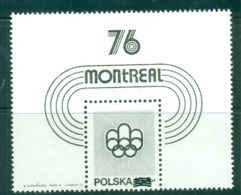Poland 1976 Montreal Olympics Black Print  MS MUH Lot58736 - 1944-.... Republic