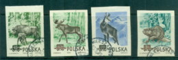 Poland 1954 Wildlife, Bison, Deer, Beaver IMPERF CTO - 1944-.... Republic