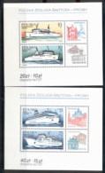 Poland 1986 Ferryboats 2xMS MUH - 1944-.... Republic