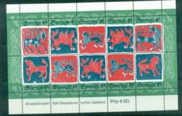 Sweden 1974 Woolen Quilt Sheet 10 MUH Lot83949 - Sweden