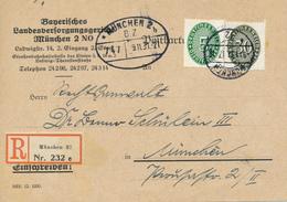 MÜNCHEN - 1931 , R-Karte Landesversorgungsgericht - Germany