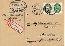 MÜNCHEN - 1932 , R-Karte  Oberversicherungs-Amt - Germany