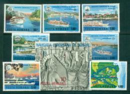 Romania 1977 Danube Commission + MS MUH Lot58753 - 1948-.... Republics