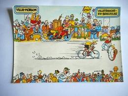 CPM TOUR DE FRANCE 1984 22 EME ETAPE VILLIE MORGON VILLEFRANCHE EN BEAUJOLAIS Pub BANANIA - Cyclisme