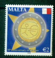 Malta 2009 Euro 10th Anniv MUH Lot23586 - Malta