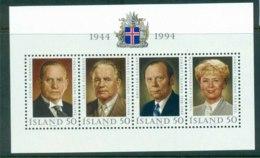 Iceland 1994 Presidents Of Iceland MS MUH Lot32418 - 1944-... Republic