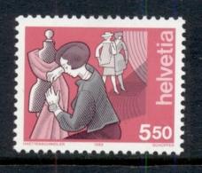 Switzerland 1989 Industry 5.50fr Dressmaker MUH - Unused Stamps