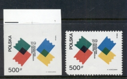 Poland 1989 World Stamp Expo Perf & IMPERF MUH - 1944-.... Republic