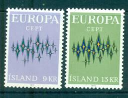 Iceland 1972 Europa, Sparkles MUH Lot65538 - 1944-... Republic