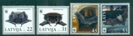 Latvia 2008 WWF Pond Bat, Western Barbastelle MUH Lot76158 - Latvia
