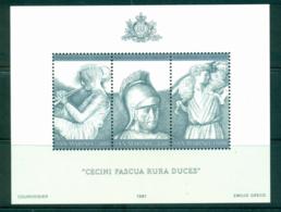 San Marino 1981 Roman Sculpture Drawings MS MUH Lot40223 - San Marino