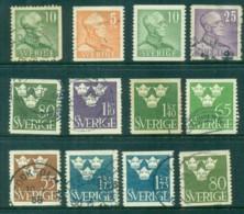 Sweden 1948 King & Three Crowns Asst FU Lot83803 - Sweden