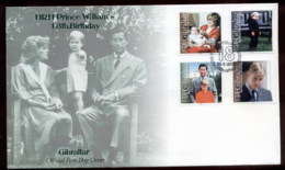 Gibraltar 2000 Prince William 18th Birthday FDC - Gibraltar