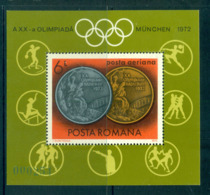Romania 1972 Munich Olympic Medals MS MUH Lot57425 - 1948-.... Republics