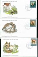 Poland 1977 WWF,Bird, Bustard, Kestrel, Wolf,Franlkin Mint (with Inserts) 3xFDC Lot79604 - 1944-.... Republic