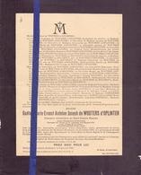Doodsbrief Faire Part De Deces - Adel Noblesse - Messire Gaetan De Wouters D'Oplinter - Rotselaar 1878 - 1944 - Décès