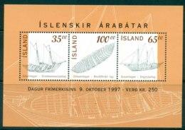 Iceland 1997 Stamp Bay Ships MS MUH Lot32449 - 1944-... Republic